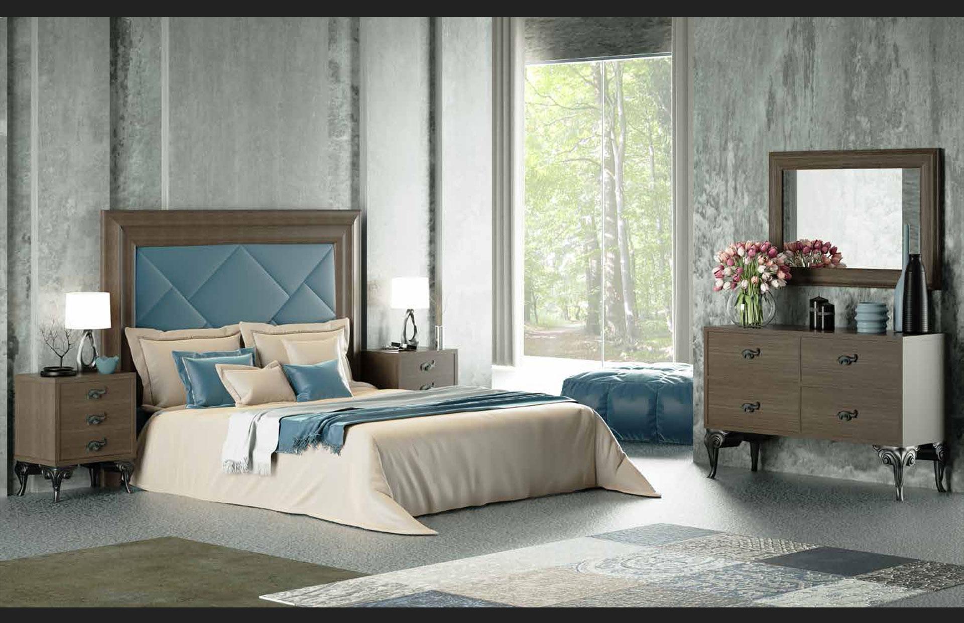 dormitorio clásico madera
