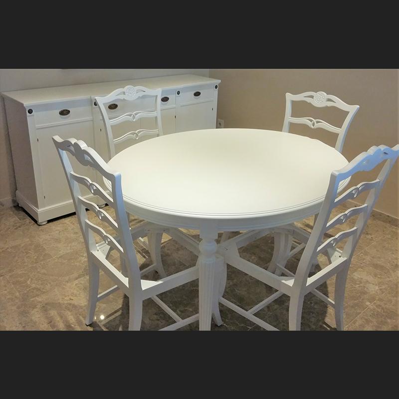 mesa sillas madera maciza