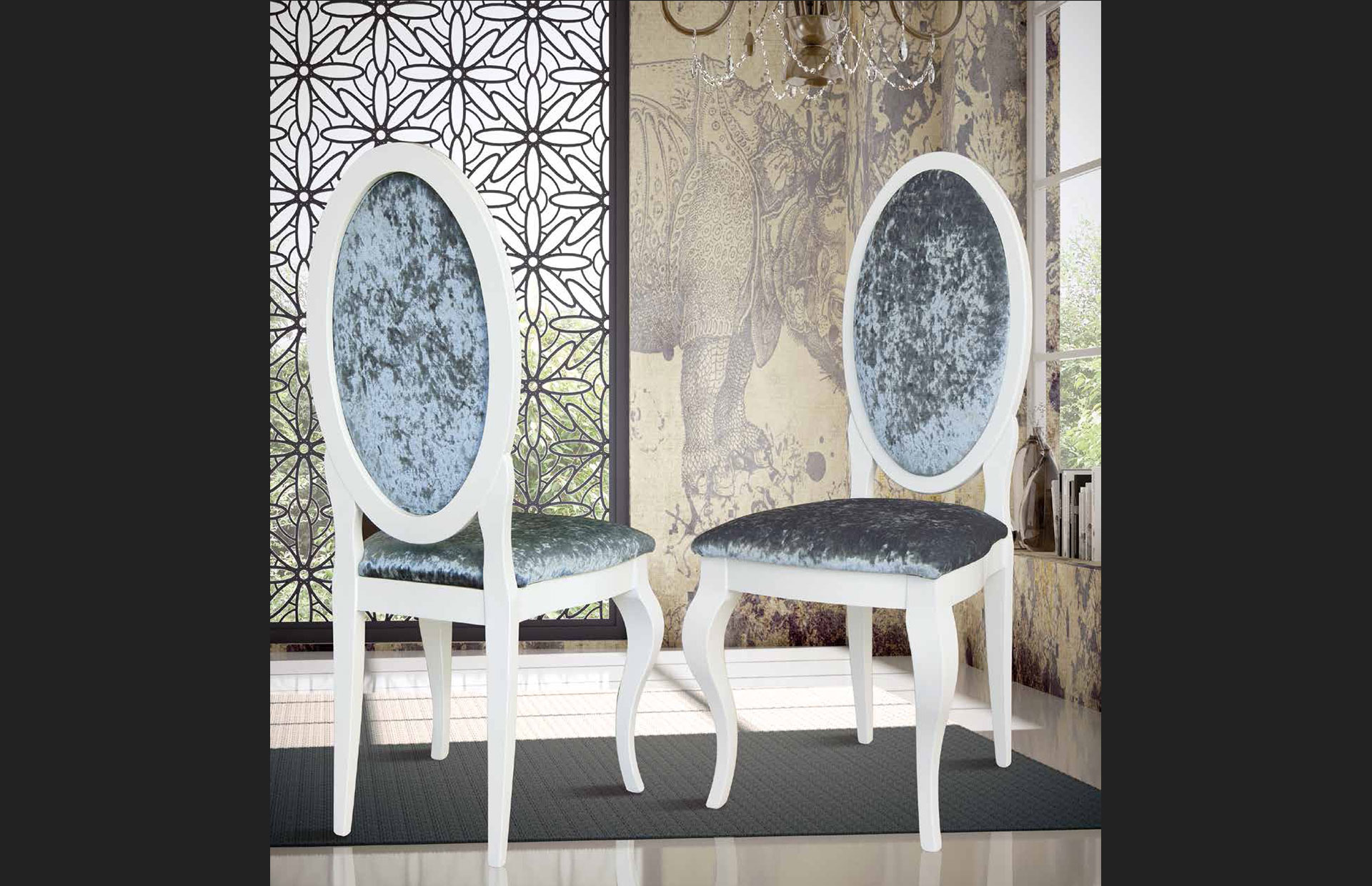 sillas luis dieciséis tapizadas